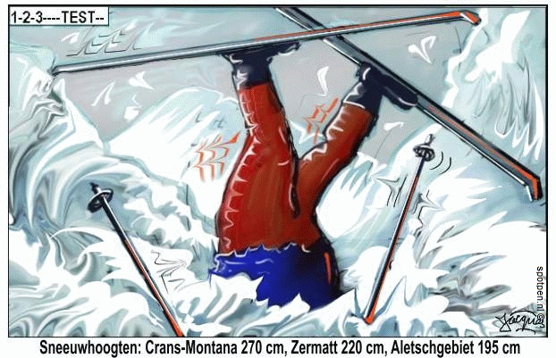 Sneeuw  cartoon winter sport