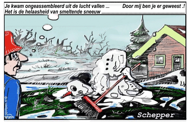 sneeuwman sneeuw pop cartoon