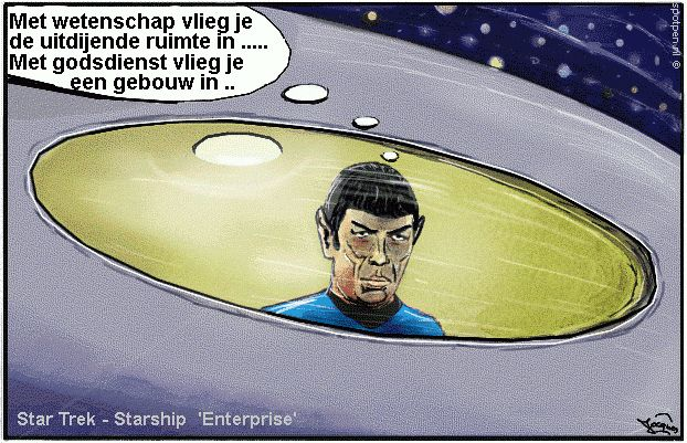 cartoon Star Trek - Starship Enterprise Spock