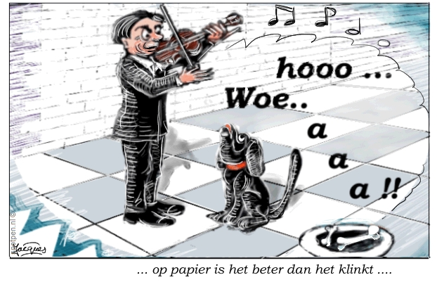 viool violist cartoon