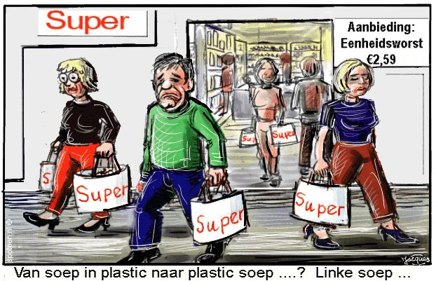 cartoon  plastic soep supermarkt oceaan