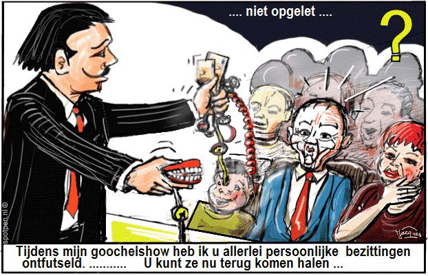 goochelaar cartoon illusionist