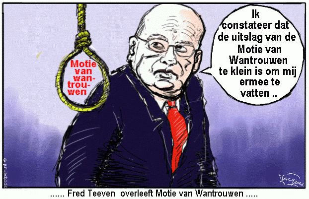 cartoon Teeven Fred strop