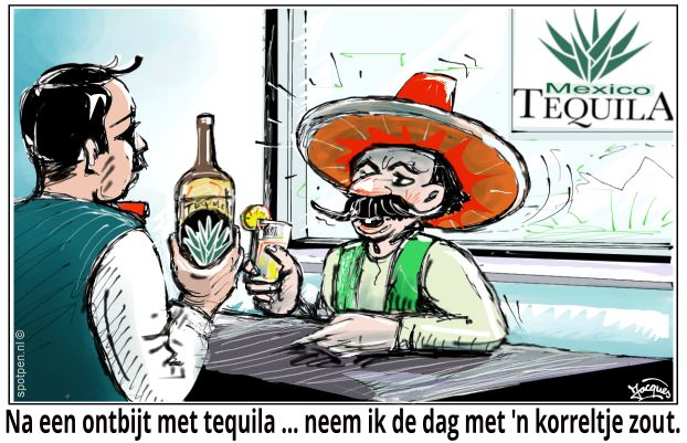 tequila cartoon mexico