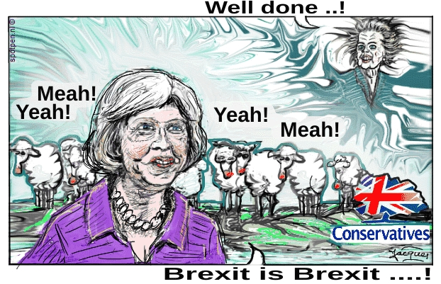Theresa May cartoon  prime minister