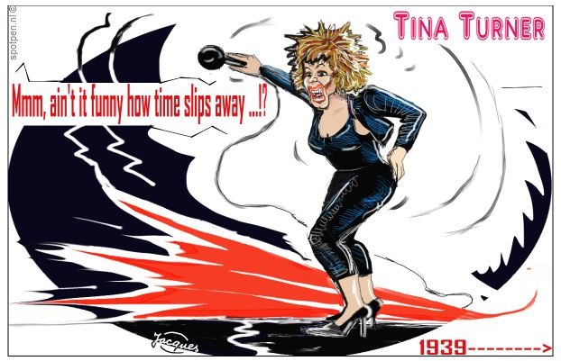 Tina Turner cartoon zangeres