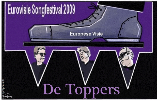 cartoon Songfestival Eurovisie The Toppers 2009