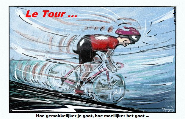 Cartoon wielrenner  wielersport wielrennen  tour de france