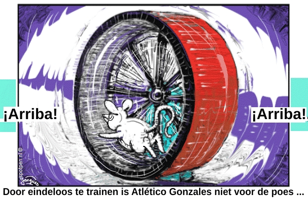 rennende muis  cartoon  tredmolen