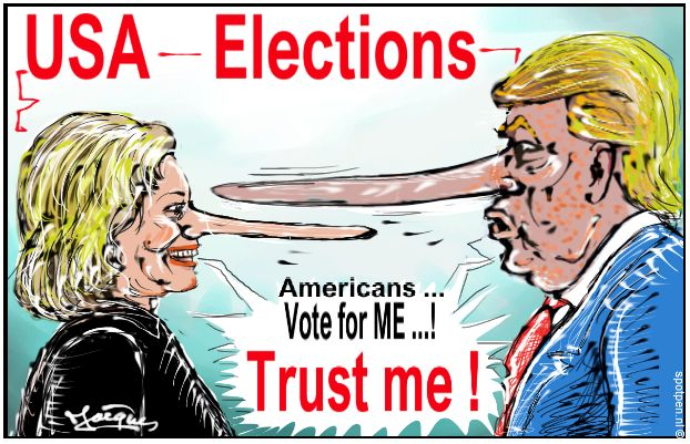 USA elections cartoon