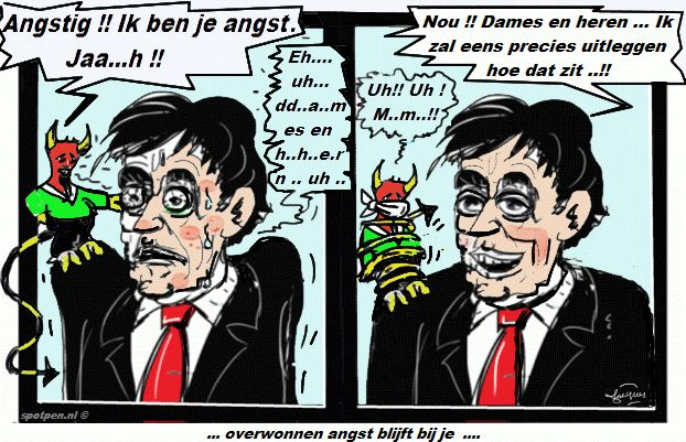 Cartoon  Angst  paniek
