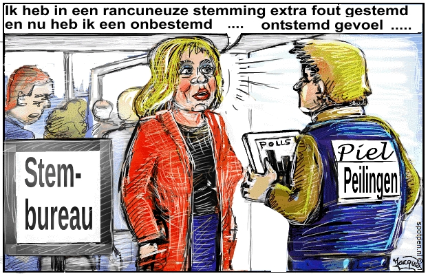 verkiezingen cartoon peilingen