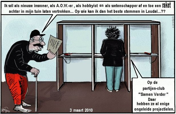 cartoon Verkiezingen   leudal