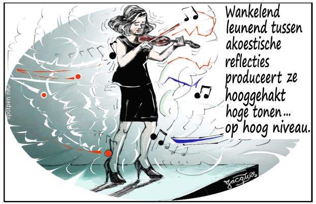 violiste cartoon violist