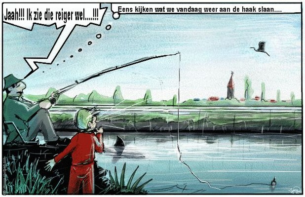 hengelaar cartoon visser