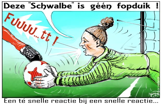 voetbal keeper cartoon voetballen