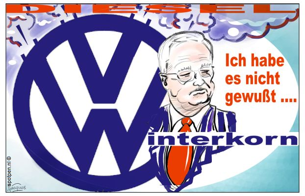 Volkswagen VW Winterkorn dieselschandaal cartoon