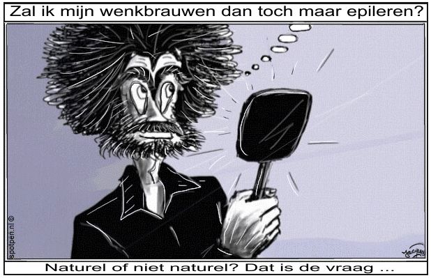 cartoon epileren wenkbrauwen