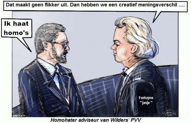 Cartoon homohater homo poot pot gay lesbisch nicht