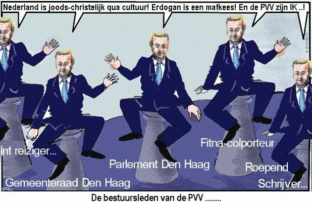 cartoon Wilders PVV