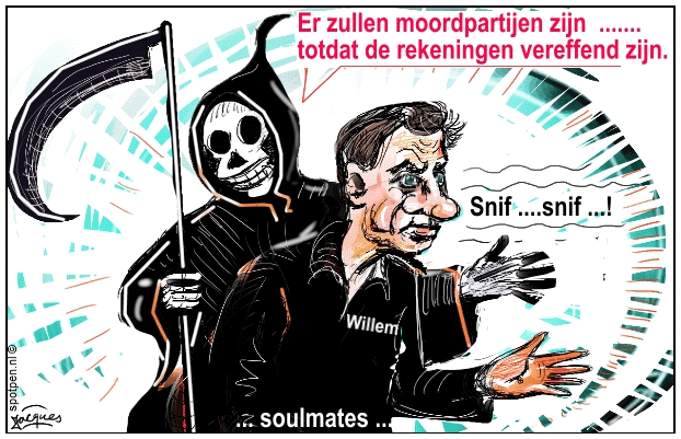 Holleeder cartoon crimineel misdadiger