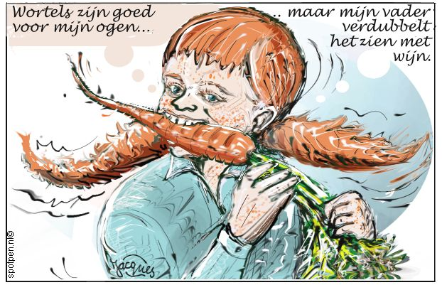 wortels - peen  - cartoon peentjes